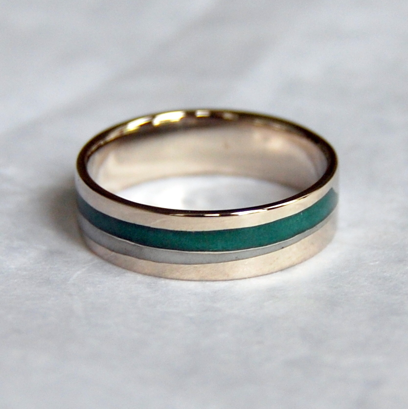enamel wedding rings