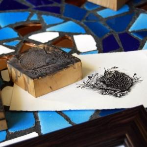 Keith Pettit Hedgehog wood print