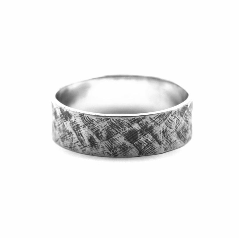 Criss Cross Oxidised Silver Ring