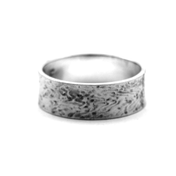 Waterflow Oxidised Silver Ring