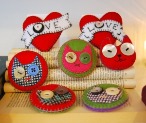 Felt Brooches by Betty Shek