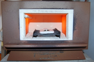 Kiln - It's almost 800 degrees C in there !