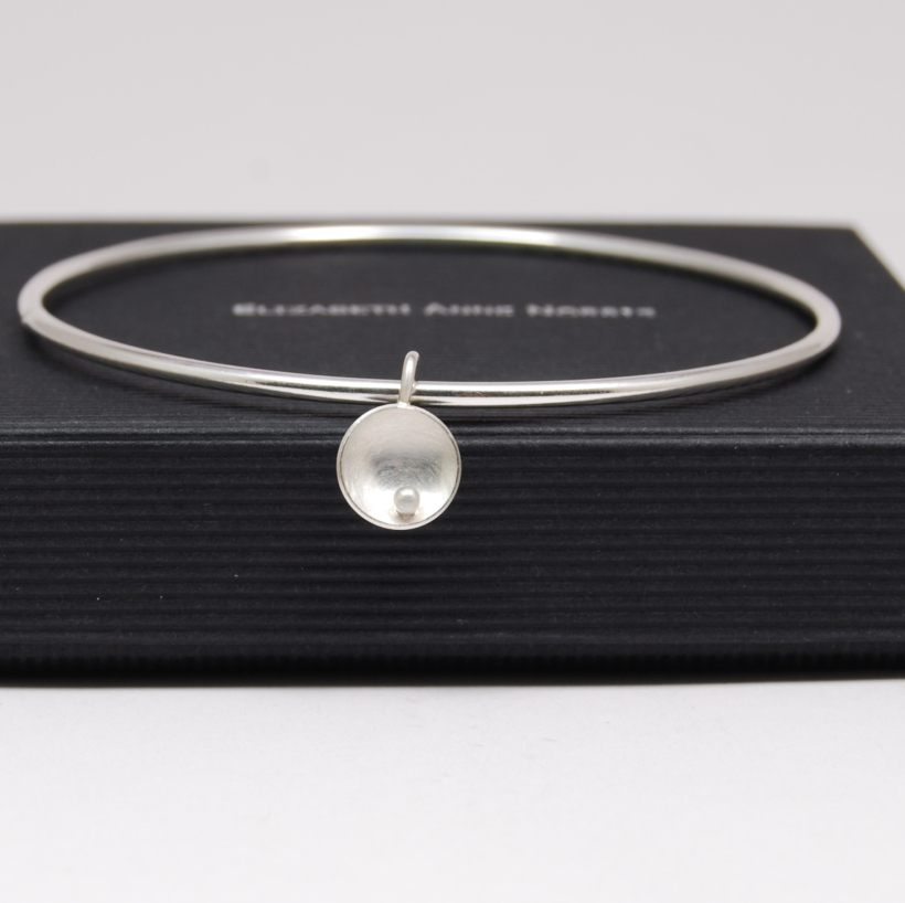 Circles and Pearls Bangle - main