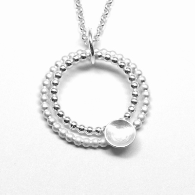 Pearlwire Silver Circles Pendant - Main