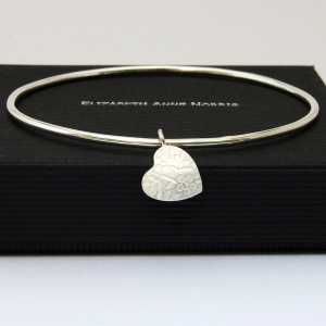 Floral Heart Bangle - Main