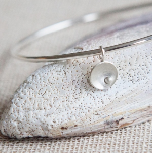 Circles and Pearls Charm Bangle - Styled-001